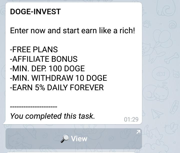 Gini Loh Cara Hasilkan 100 Doge Perhari Dari Bot Telegram | Jelajahcoin