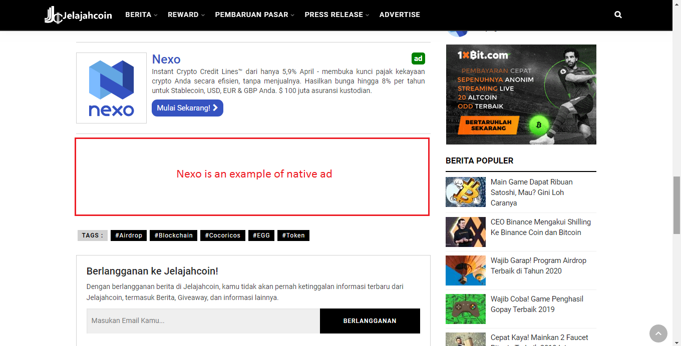 Native & Banner Ad