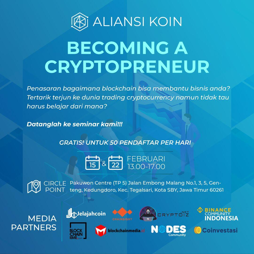 Becoming a Cryptopreneur
